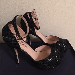 Shoes - Black studded heels